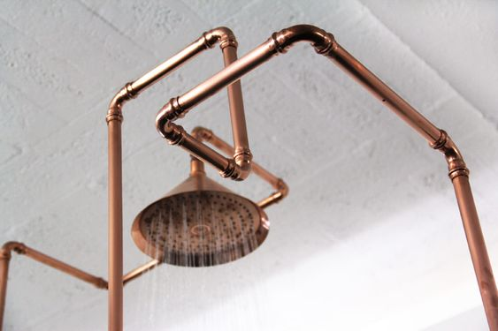 Exposed Copper Pipes Bathroom Google Search Bathroom