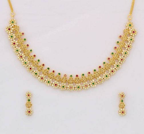 25 Latest Collection Of Gold Necklace Designs In 15 Grams Gold Necklace Designs Necklace Designs Jewelry Design Necklace