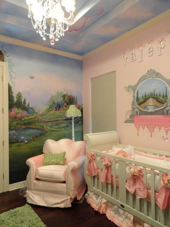 nursery murals | ... nursery 12000 nursery garden nursery garden cottage mural baby mural