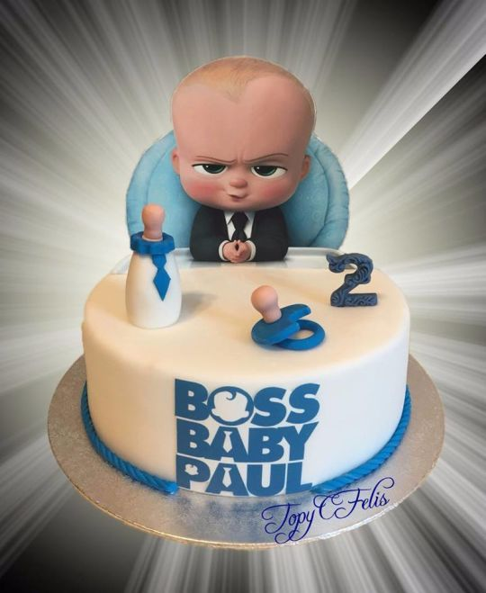 Boss Baby Paul In 2020 Baby Boy Birthday Cake Boss