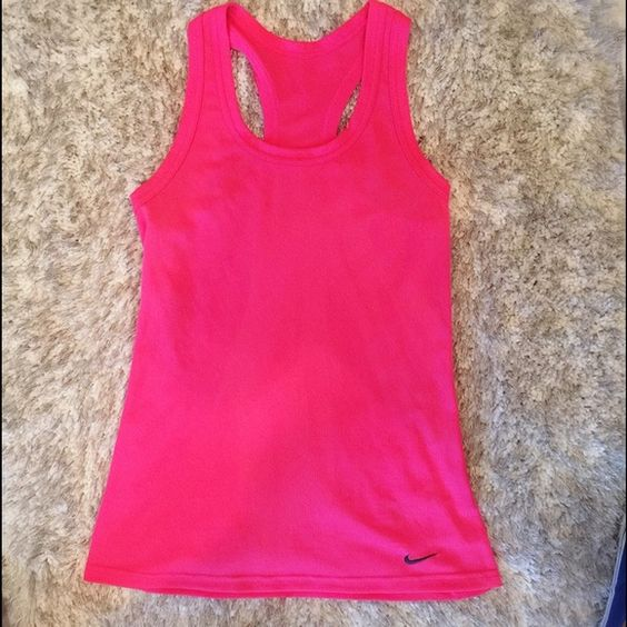 Nike DriFit hot pink tank New condition. No wear and tear. DriFit tight fit. Hot pink! Nike Tops
