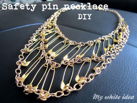 ganchos y cadenas buena idea para un collar