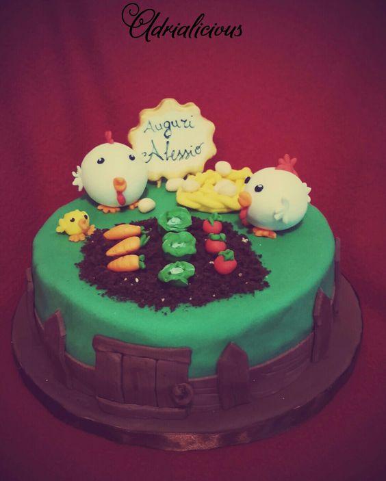 Farm cake, torta fattoria, pollaio
