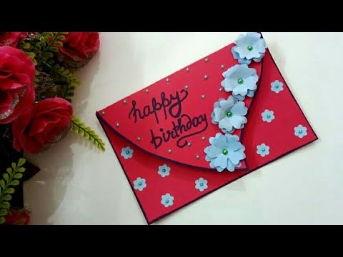 Beautiful Handmade Greeting Card For Birthday Complete Tutorial Youtube Simple Birthday Cards Birthday Greeting Cards Greeting Cards Handmade