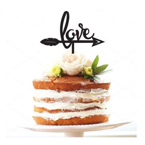 Love Arrow Cake Topper by SMOOCHdesignsAus on Etsy