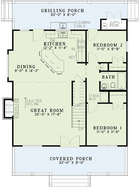 Plan 59152nd Unique Cabin Cottage Cabin Floor Plans How To Plan Cottage Plan