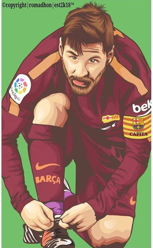 Pin De Alexis Em Barcelona Illustration Desenho Futebol
