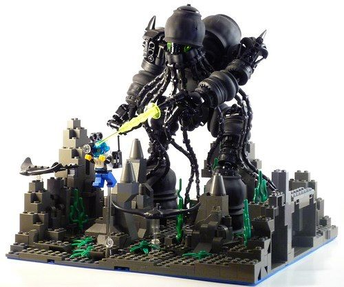Cthulhu with laser. In lego. Awesomesauce.