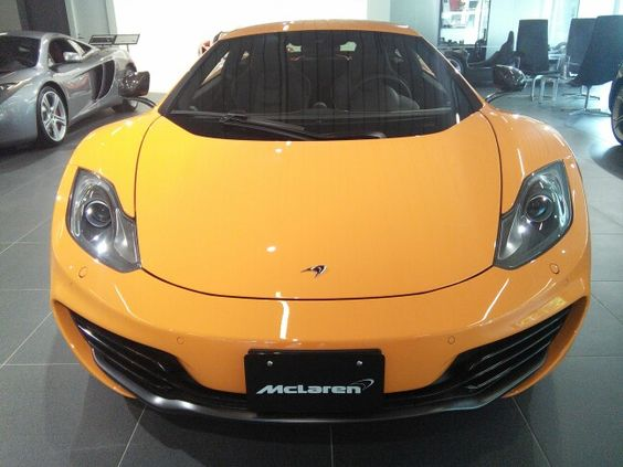Then I was in a Mclaren showroom.