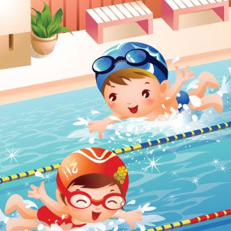 Resultado de imagen de swimming dibujo