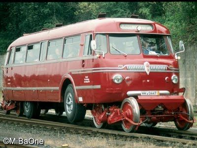 ☆MG☆ Road-Rail Bus In the 50s and 50s in Germany, a bus was shuttling between stations Montabaur and Siershahn