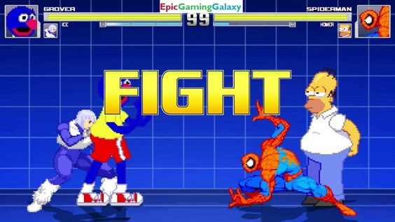 Spider-Man And Homer Simpson VS Grover And Ice In A MUGEN Match / Battle / Fight This video showcases Gameplay of Ice The Superheroine And Grover From The Sesame Street Series VS Homer Simpson From The Simpsons Series And Spider-Man The Superhero In A MUGEN Match / Battle / Fight