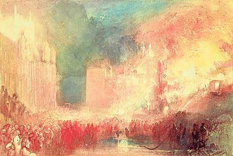 The Burning of the Houses of Parliament, 1834-5.