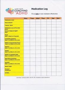 ADHD Medication Log | Laurie Dupar Coaching for ADHD | Stuff to ...