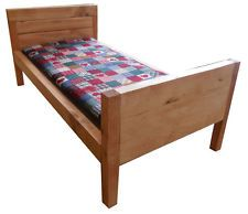 WOODEN DOLL BED WITH MATTRESS (FITS 18 TO 20 INCH DOLL)