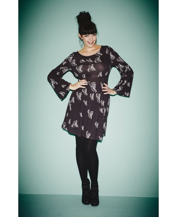 Bird Print Tunic - Length from 35in