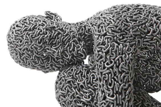 Anguish 15, Stainless chain, 40x45x70cm, 2013