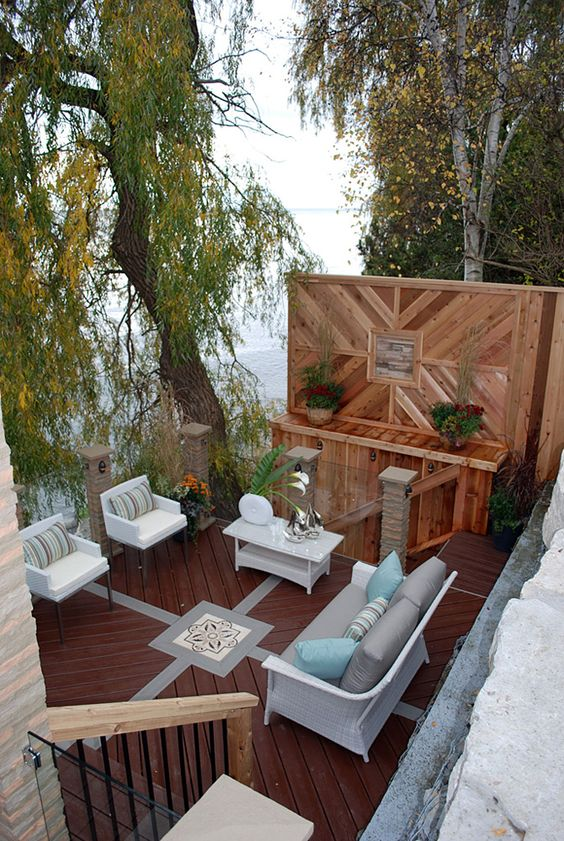 This Luxurious Multi Level Deck Overlooking Lake Ontario