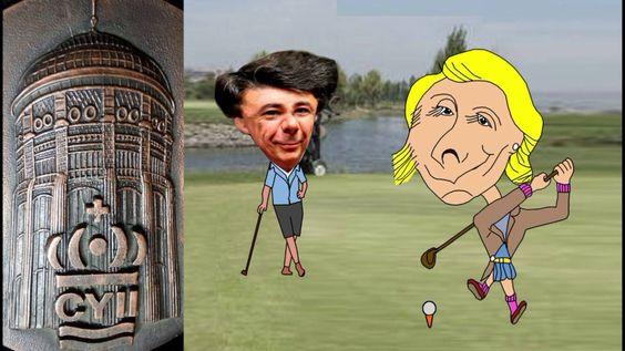 Esperanza Aguirre y el campo de Golf
