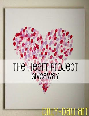 Fingerprint heart cards - Stamps giveaway - beautiful!