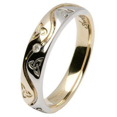 celtic diamond ring