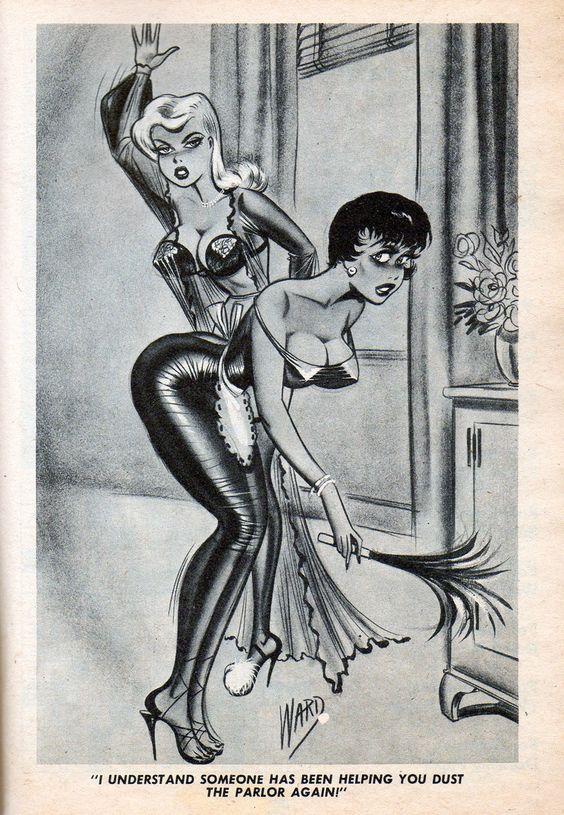 humorama bill ward f/f a girl spanking the bent-over maid