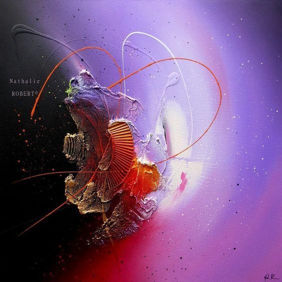 Acryliques abstrait and violettes on pinterest - Tableaux contemporains et modernes ...