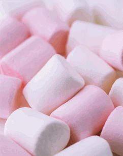super giant pink and white marshmallows (perfect for putting on a stick and dipping!)