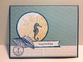 By the Sea Stampin' Up! Rubber Stamping Stamped Card