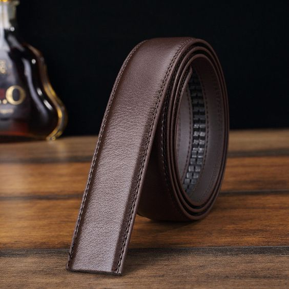 Men Second Floor Cowhide Black Brown Business Belt Body Without Buckle 4 Sizes…