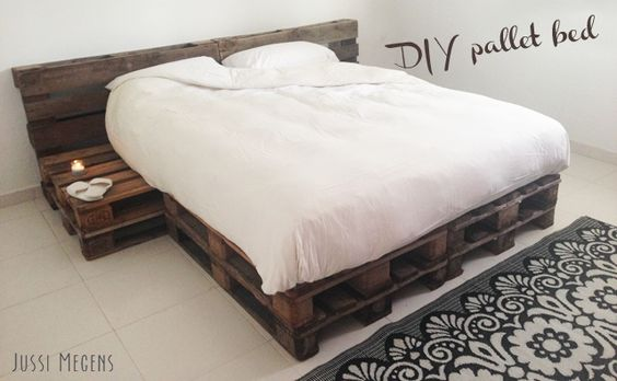 Pin Van Jenelle French Op Do It Yourself Big Projects Bed Van Pallets Palletbedden Palletbed