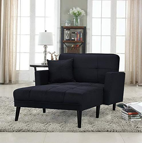 Mikash Modern Fabric Recliner Sleeper Chaise Lounge Chair Black Model Lngchr 22 Chaise Lounge Modern Chaise Lounge Chaise Lounge Sofa