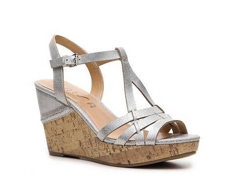 Unisa Kippy Metallic Wedge Sandal Women's Wedge Sandals Sandals Women's Shoes - DSW