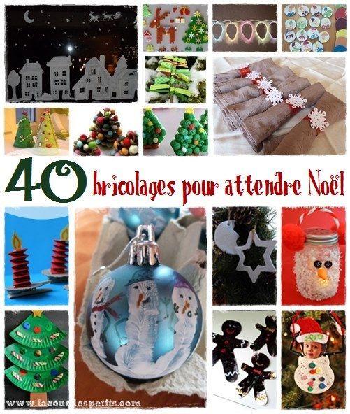 Pour occuper les enfants jusqu'au jour J, retrouvez pas moins de 40 bricolages de Noël pour tous les âges et tous les gouts !