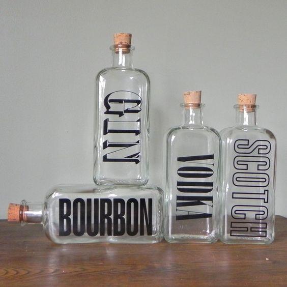 really cute bar jars on etsy. i love the type! $89