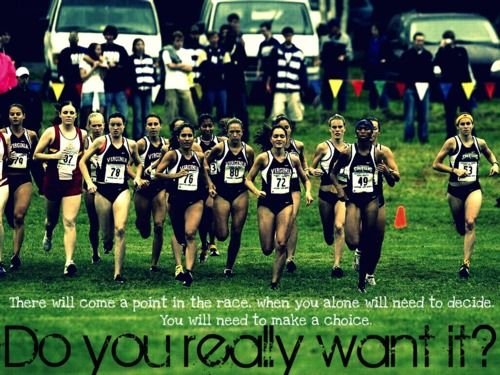 """every runner had this feeling at some point in a race. mine is usually """"Are you going to be mad at the world after if you suck ?"""""""