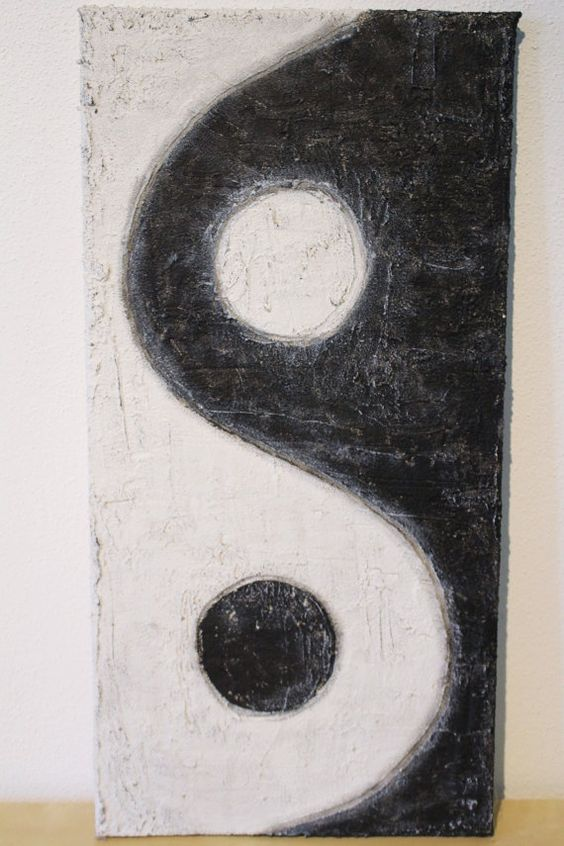 yin yang acryl auf leinwand 30x60 cm malen pinterest produkte kunst und yin yang. Black Bedroom Furniture Sets. Home Design Ideas