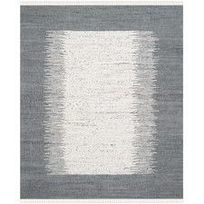 Montauk Ivory & Grey Contemporary Area Rug