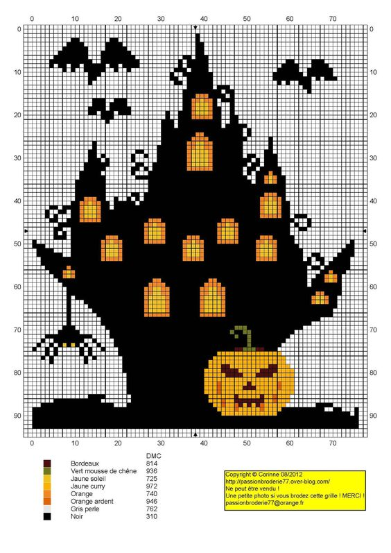 Chateau Halloween- light bulb- idea panel for Halloween with castle/ medieval/ not cartoony like this, more scary-P