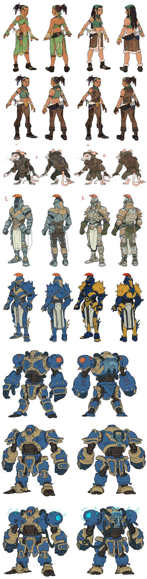 Concept Character Design Tutorials : G t e by pietro ant on deviantart concept art project