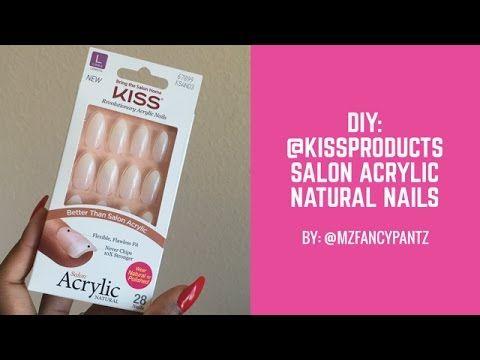 Diy Kiss Salon Acrylic Natural Nails Acrylic Nagelkunst Nails Natural Salon Natural Nails Acrylic Nail Kit Acrylic Nails At Home