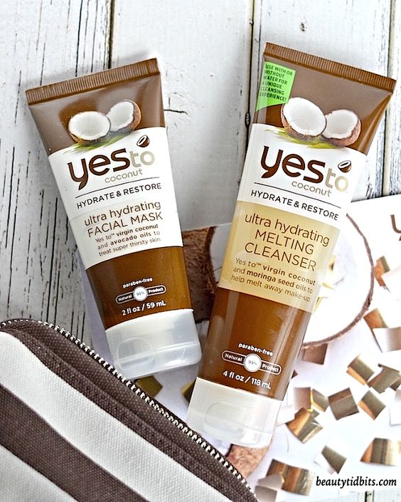 Yes To Coconut Ultra Hydrating Face Mask and Melting Cleanser