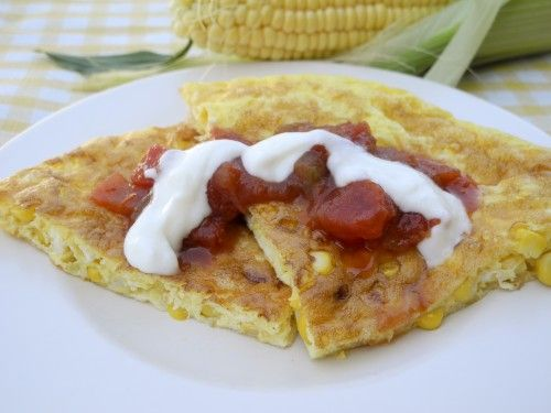 Easy Grilled Corn Frittata!