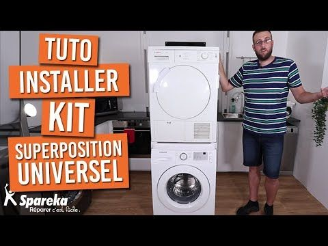 Comment Installer Votre Kit De Superposition Universel Pour Lave Linge Seche Linge Youtube Lave Linge Laveuse Secheuse Superposees Seche Linge