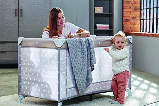 Schardt Reisebett Herzchen Grau Babyzimmer Ideen Wandgestaltung