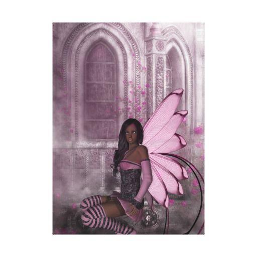 KRW In the Midnight Mist Fantasy Faery Art Canvas
