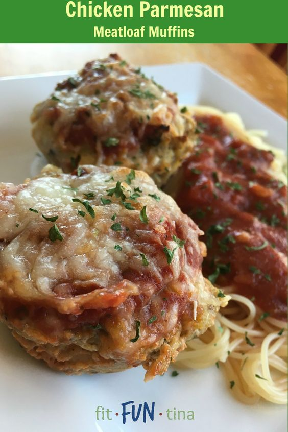 Meatloaf muffins, Chicken parmesan meatloaf and Parmesan meatloaf on ...