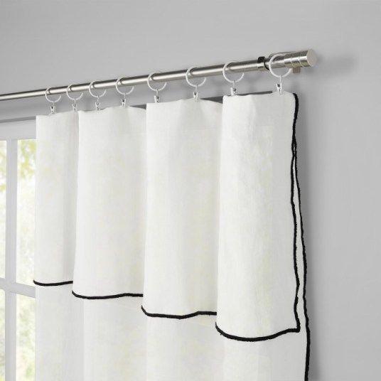 rideaux lin rideau lin blanc