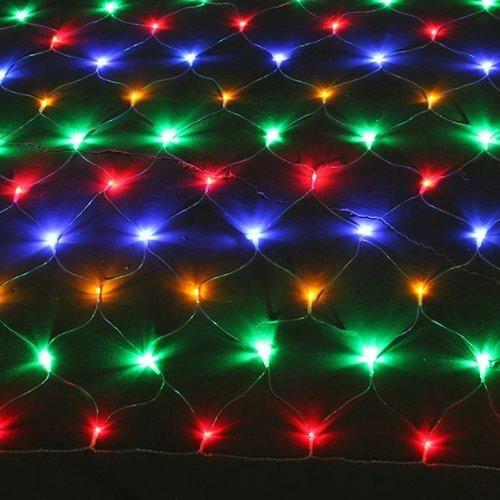 Solar 200 288 Led Net Lights 2 5 X 2 5m 5 0 X 2 5m Multi White Warm White Colour In 2021 Net Lights Outdoor Party Lighting Lights