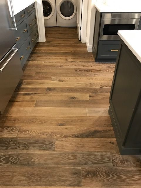 How Gorgeous Is This Install Featuring Castilian Engineered In Copper Find Your Engineered Wood Floors Wide Plank Hardwood Floors Wood Floors Wide Plank